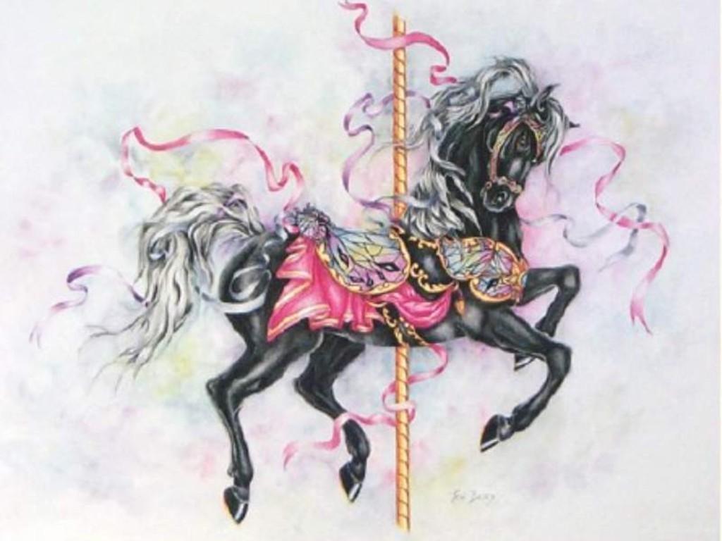 Cool Wallpaper Horse Watercolor - black-carousel-horse  HD_85837.jpg
